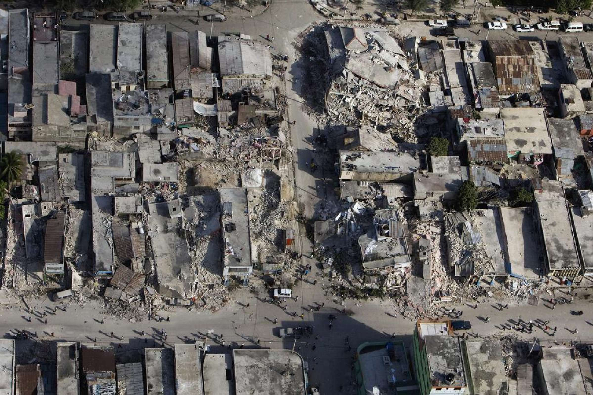 An Aerial View Of The Damage In Port Au Prince Haiti After An Earthquake Measuring 7 Plus On The Richter Scale Hit In January 2010